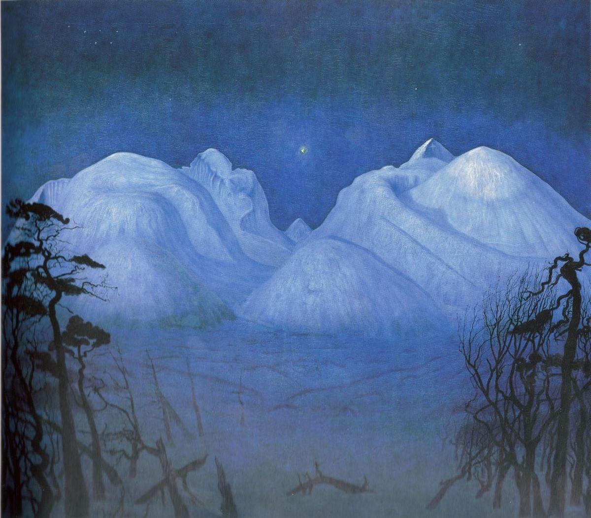Standard vinternatt i fjellene 1914