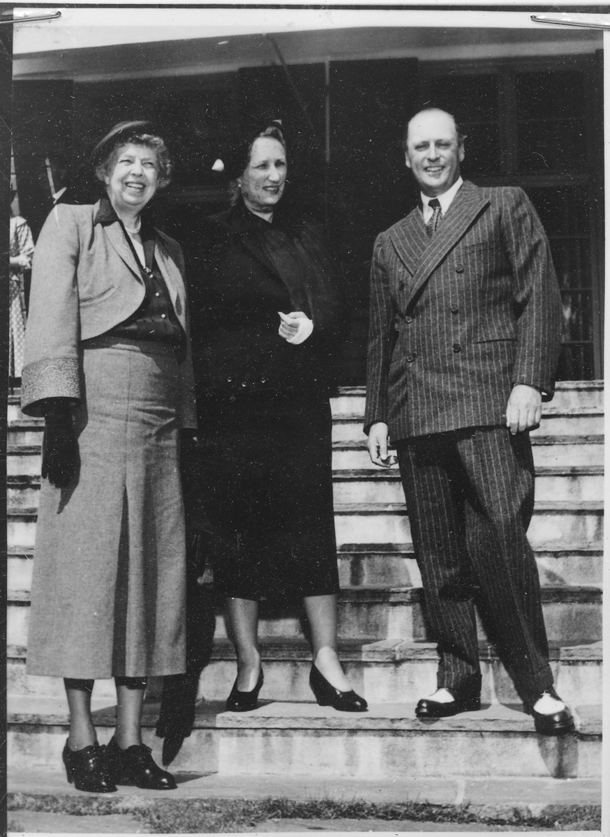 Standard eleanor roosevelt and martha and olav of norway in norway   nara   195782 1