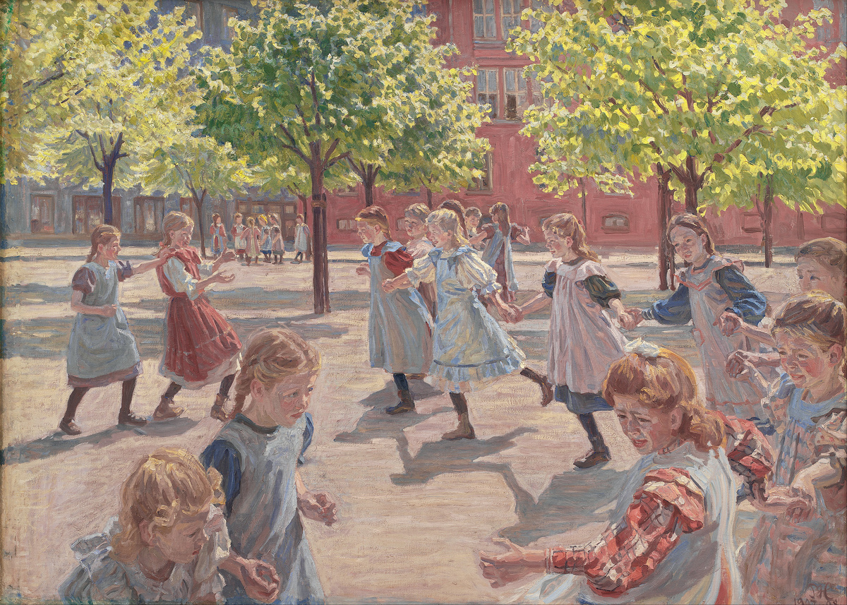 Standard peter hansen   playing children  enghave square   google art project