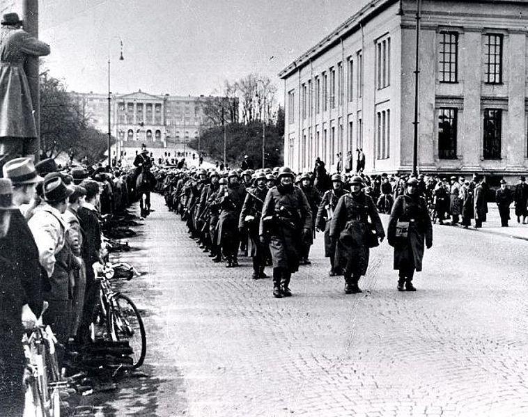 Standard german soldiers in oslo 9 april 1940