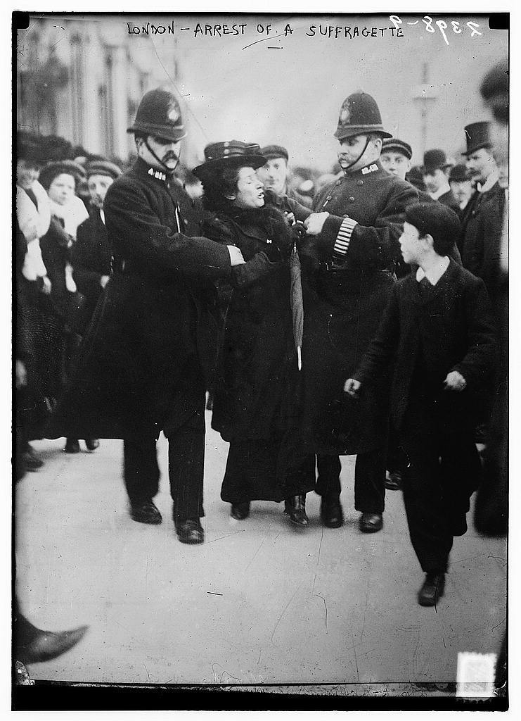 Standard the library of congress   london   arrest of a suffragette  loc