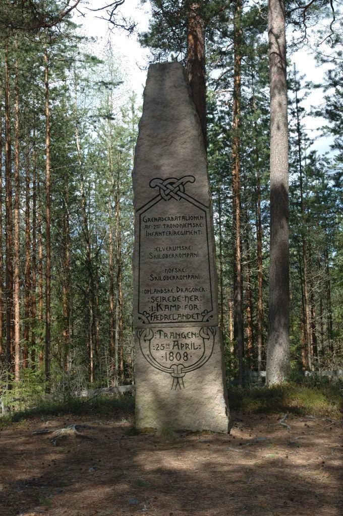 Standard minnestein oer kampene ved trangen 1808