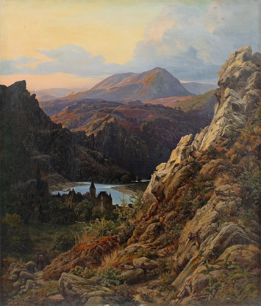 Standard johann wilhelm schirmer berglandschaft