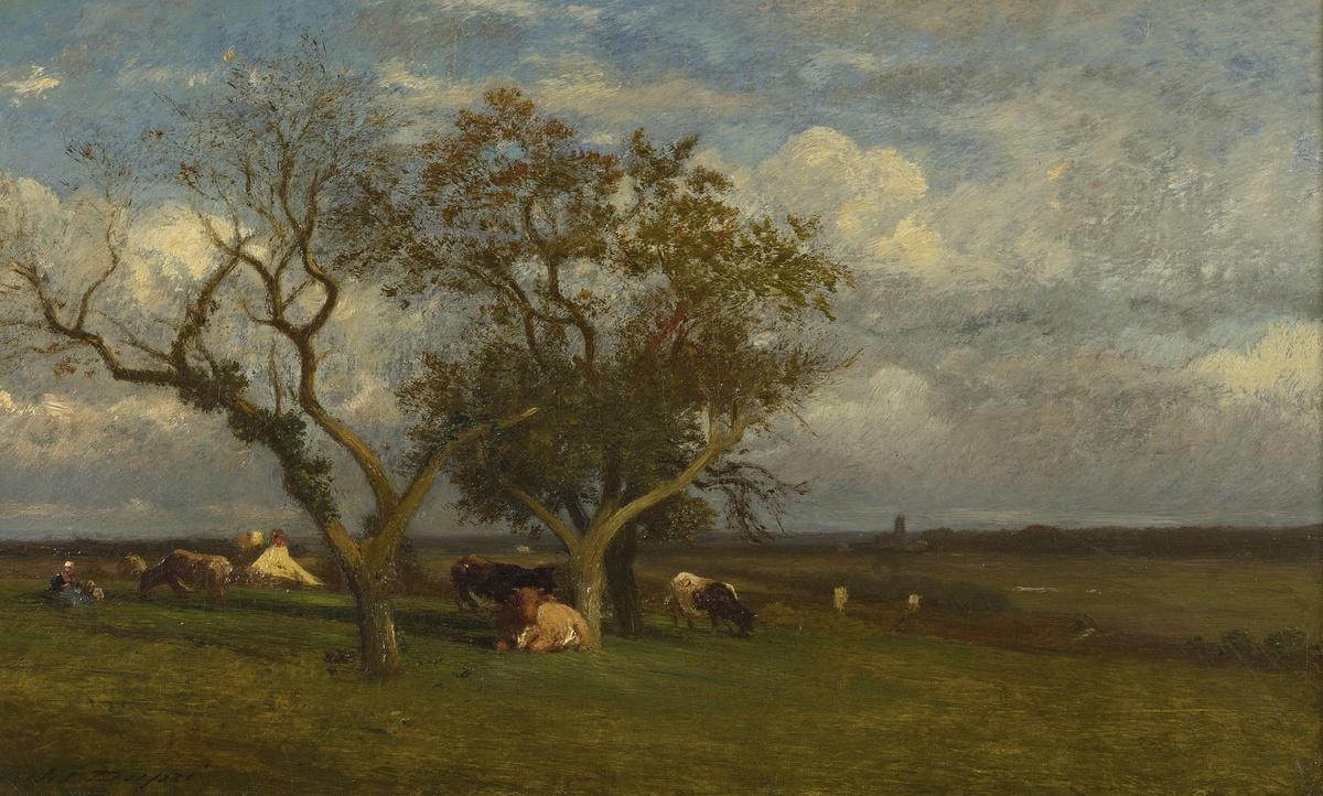 Standard jules dupr    paysage avec des vaches