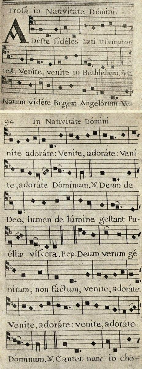 Standard adeste  fideles  earliest version