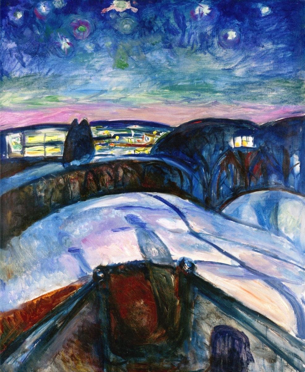 Standard edvard munch   starry night  1922 24
