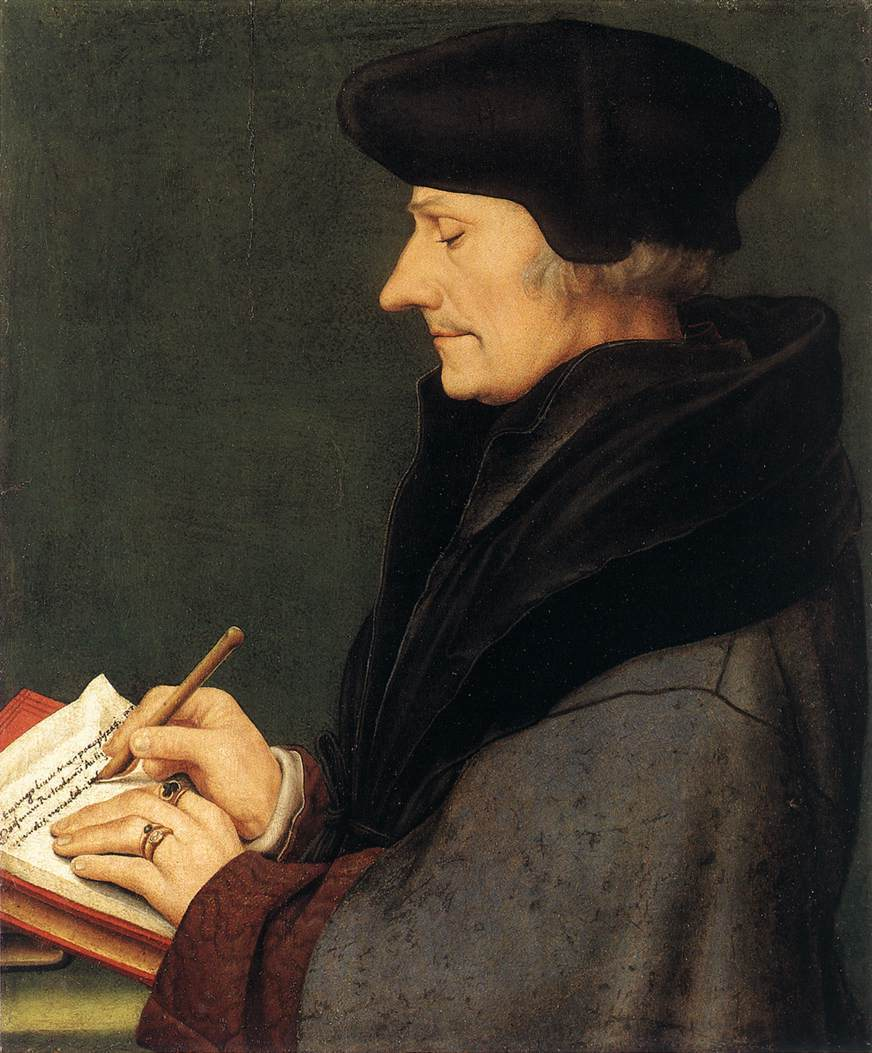 Standard hans holbein d. j.   portrait of erasmus of rotterdam writing   wga11498