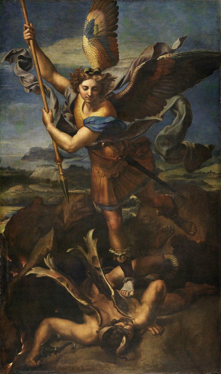 Standard 4096px le grand saint michel  by raffaello sanzio  from c2rmf retouched