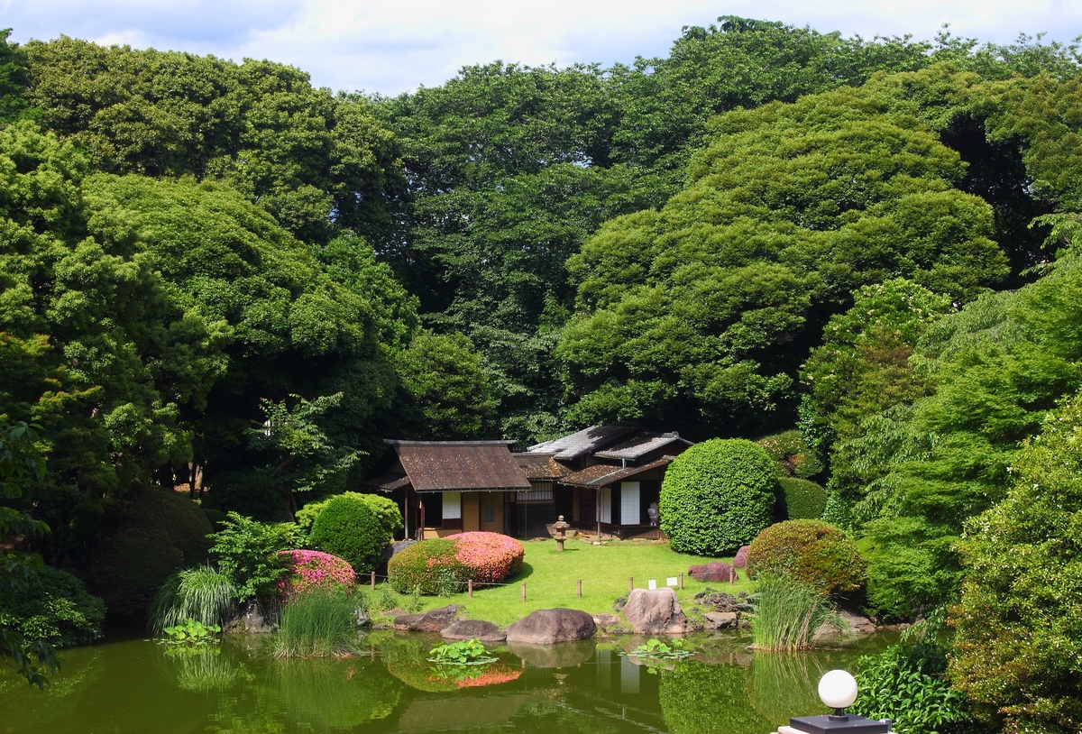Standard japanese gardens in tokyo national museum