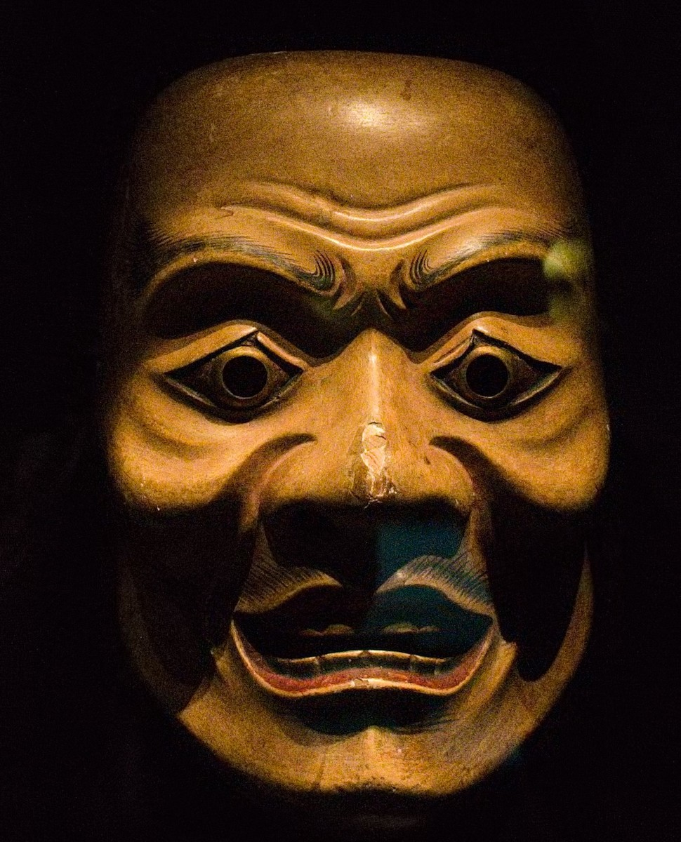 Standard 17th century japanese noh mask