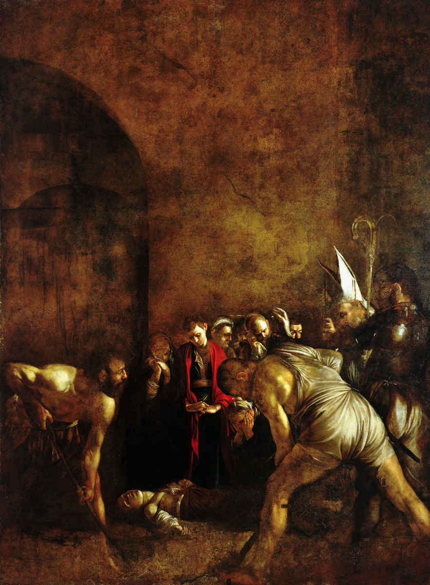 Standard burial of st lucy. caravaggio 1608