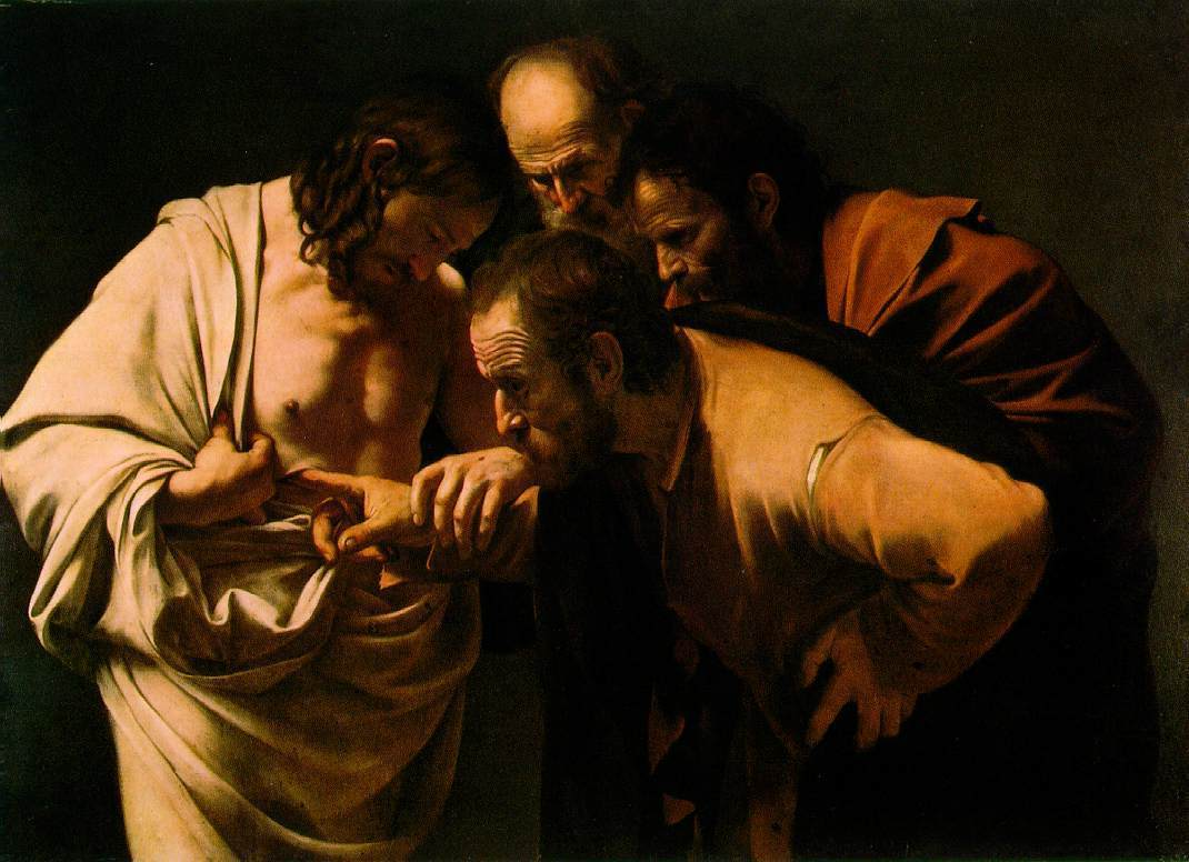 Standard the incredulity of saint thomas by caravaggio