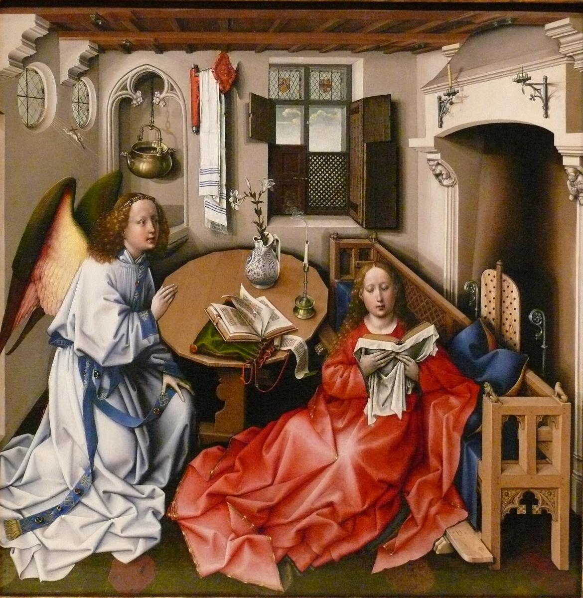 Standard campin annunciation triptych