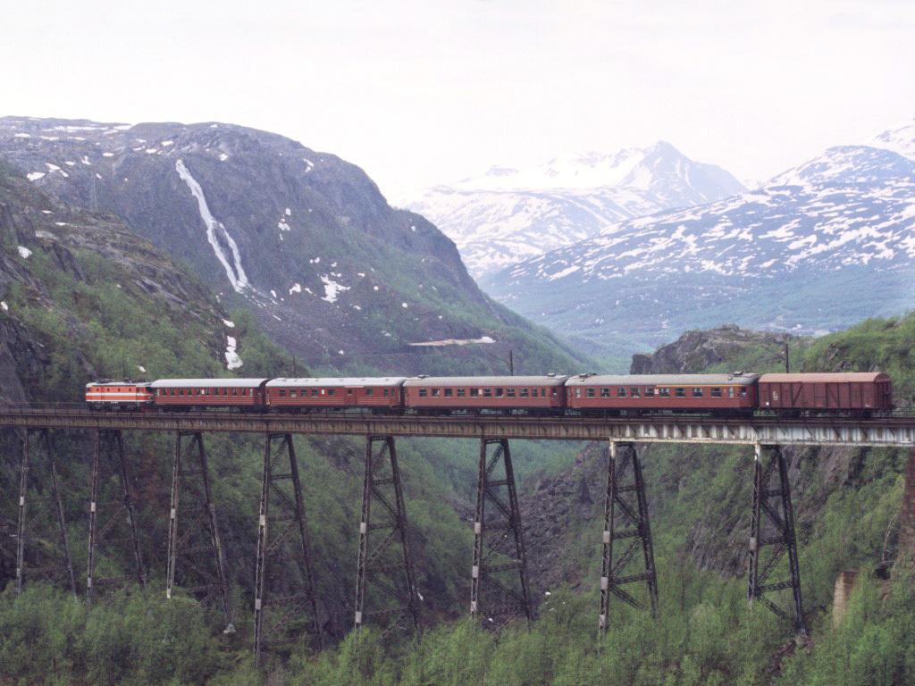 Standard norddalsbrua  ofotbanen  narvik  1988