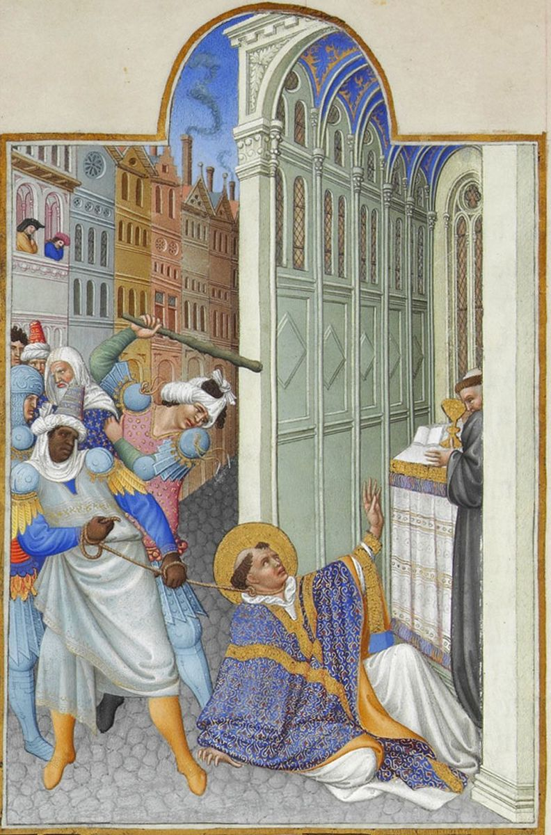 Standard folio 19v   the martyrdom of saint mark