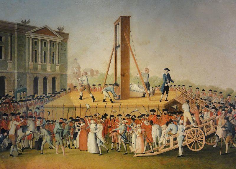 Standard exécution de marie antoinette le 16 octobre 1793