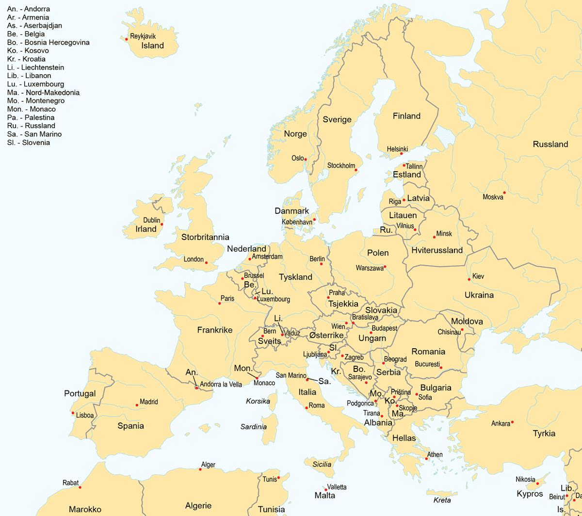 Mange der i hvor lande verden er Hvilke lande