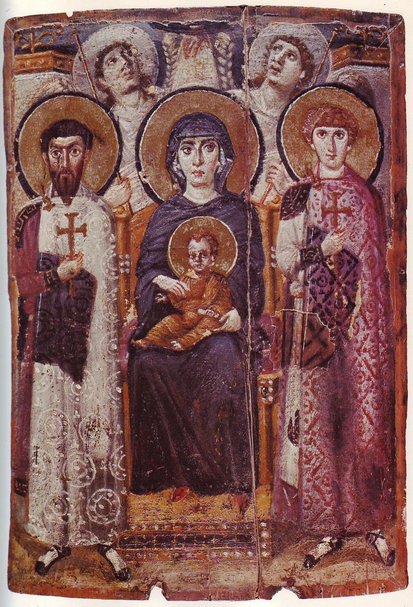Standard mary   child icon sinai 6th century