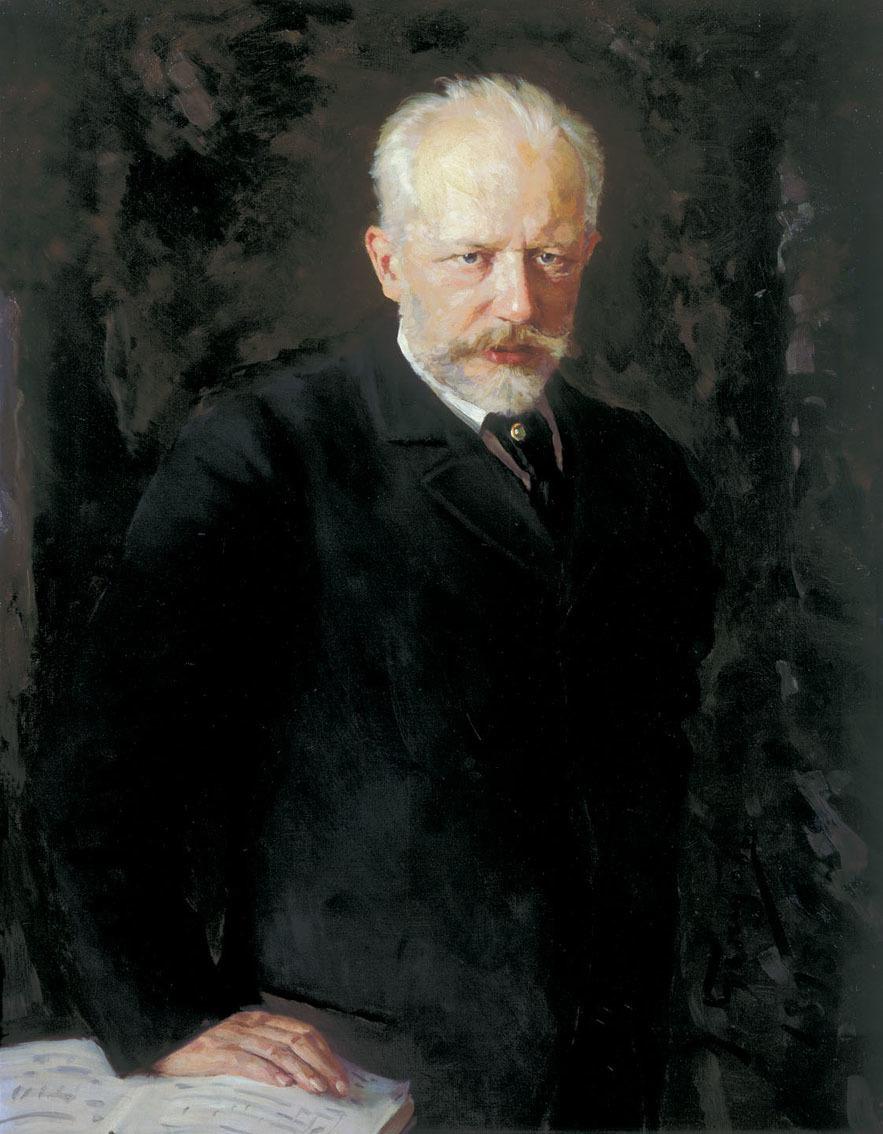 Standard porträt des komponisten pjotr i. tschaikowski  1840 1893