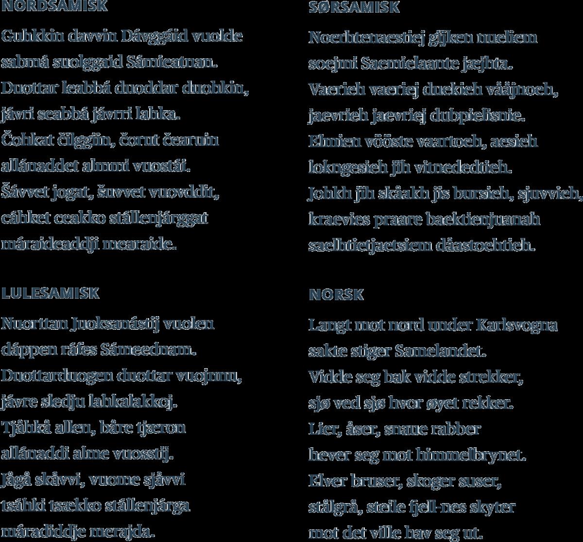 Standard samisk nasjonalsang