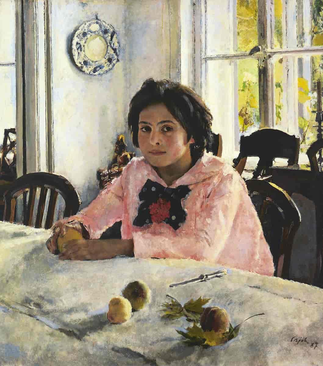 Валентин Серов. Девочка с персиками. 1887