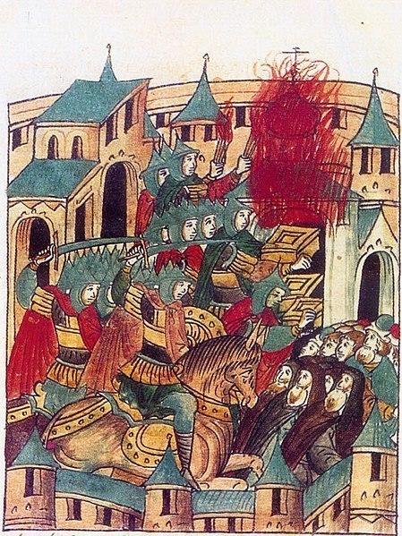 Standard sacking of suzdal by batu khan