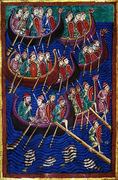 Standard life of st. edmund  barbarians invading england  c 1130