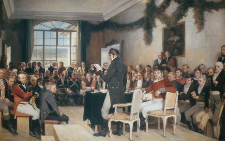 Standard riksforsamlingen  maleri  1